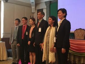 分科会「SCP政策とエコラベル、持続可能な公共調達」での発表者。タイ、フィリピン、韓国、インド、ベトナムの取り組みを報告。
